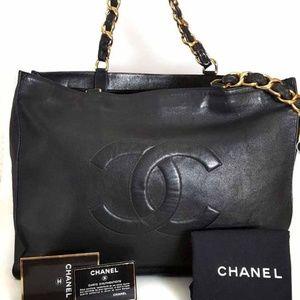 Chanel Vintage LAMBSKIN JUMBO XL Tote